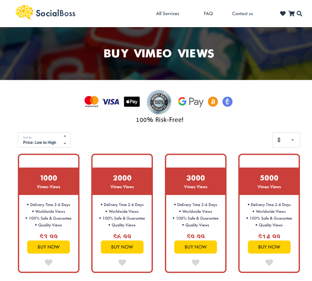 Social Boss Vimeo Views