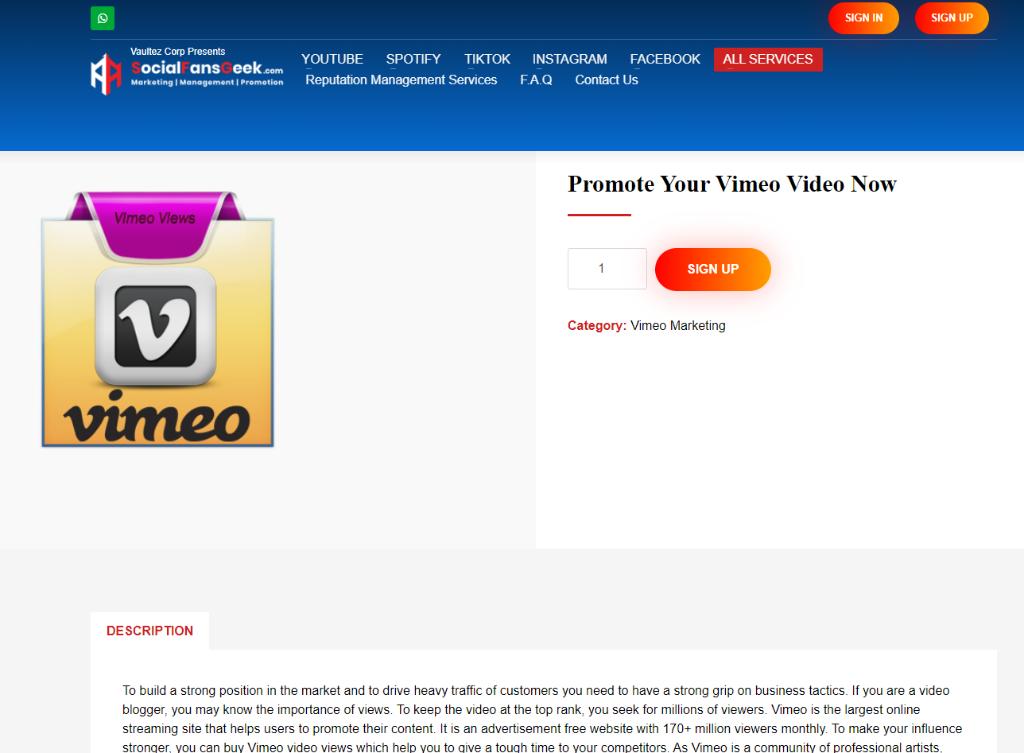 Social Fans Geek Vimeo Views