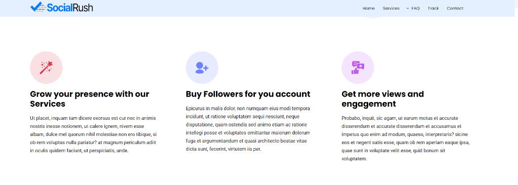 SocialRush Features